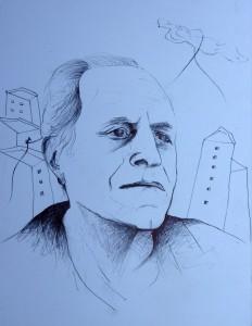 Γιάννης Δάλλας, σχέδιο μολύβι