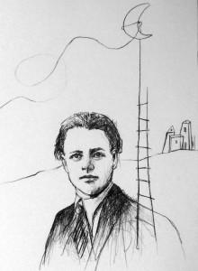 Γιώργος Σαραντάρης, σχέδιο μολύβι