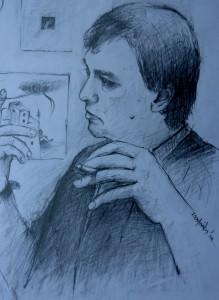 Ηλίας Λάγιος, σχέδιο μολύβι