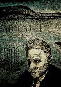 Κωστής Παλαμάς, ξυλογραφία