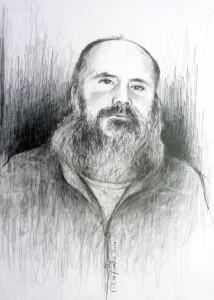 Κώστας Θ. Ριζάκης, σχέδιο μολύβι