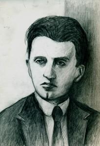 Κ.Γ. Kαρυωτάκης, σχέδιο μολύβι