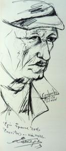 Μ. Κατσαρός, σχέδιο μολύβι