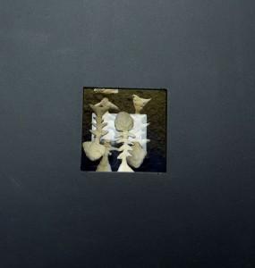 Από την ενότητα «Κιβωτός - (Αποκάλυψις)», κατασκευή με μικτή τεχνική, 1996-1997, 32x32x24