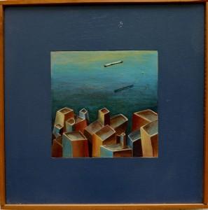 «Όμορφη πόλις Ρέθυμνο», ακρυλικά σε ξύλο, 2000, 48x48