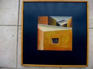 «Το χαζοκούτι», μικτή τεχνική, 2001, 48x48