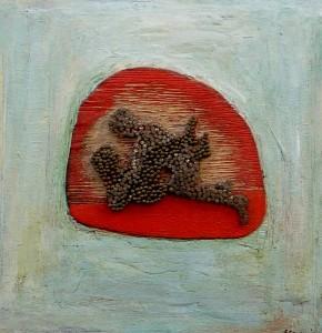 «Στα καρφιά», μικτή τεχνική, 1999, 48x48