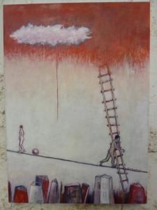 Ισορροπία, ελαιογραφία σε μουσαμά, 70χ50,2014